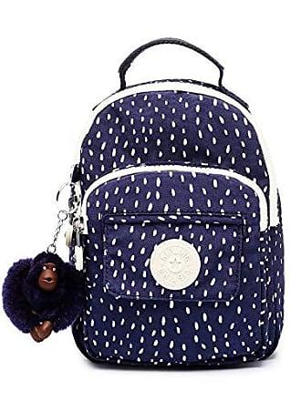 Kipling Alber 3-in-1 Convertible Mini Bag Backpack, Wear 3 Ways, Zip Closure, Surreal Dot Blue
