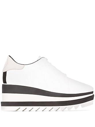 Stella McCartney Brogue flatform Elyse 80 com logo - Branco