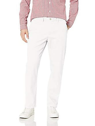 Tommy Hilfiger Mens Stretch Chino Pants in Custom Fit, Bright White, 32W x 34L