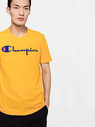 2c8aae14c753d Champion yellow short sleeve t-shirt with embroidery detail