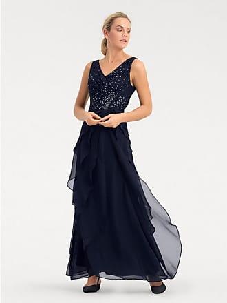 Heine Damen Abendkleid mit Plisseefalten, blau, Gr. 36, heine TIMELESS,  Material 4922906bff