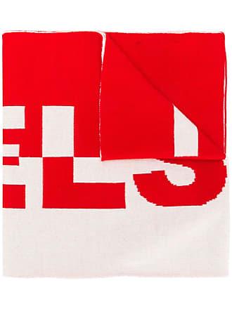 Belstaff logo knit scarf - Vermelho