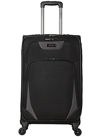Kenneth Cole Reaction Kenneth Cole Reaction Going Places 24 600d Polyester Expandable 4-Wheel Spinner Checked Luggage, Black