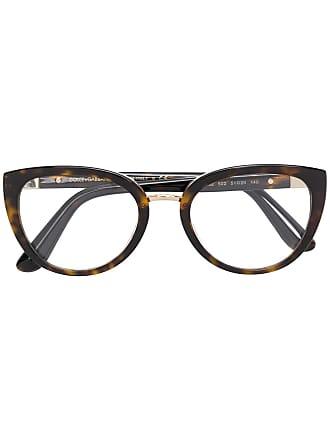 Dolce & Gabbana Eyewear Armação de óculos oval - Marrom
