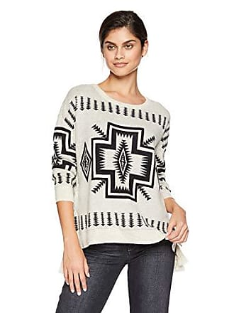 Chaser Womens Vintage Trading Blanket Sweater L S LACE-UP Sides Dolman PUL 781213661