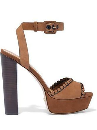 19990f05d003 Schutz Schutz Woman Nelli Suede Platform Sandals Light Brown Size 11