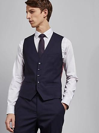 Ted Baker Debonair Skinny Stripe Wool Waistcoat in Navy MOTHW, Mens Clothing