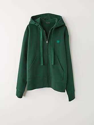 Acne Studios Ferris Zip Face Dark green Hooded sweatshirt