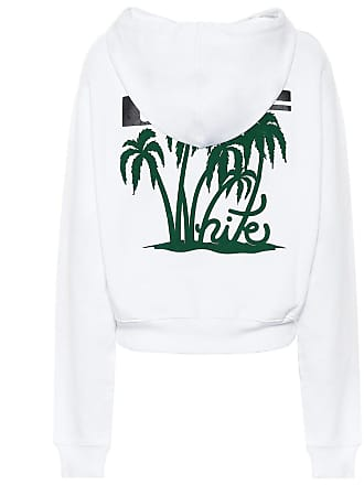 Off-white Island cropped cotton hoodie