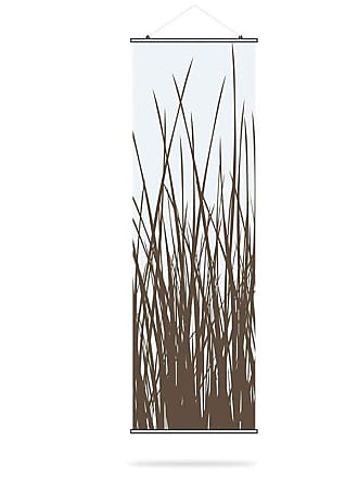 Inhabit Grass Canvas Wall Art Chocolate - GRS_1616C