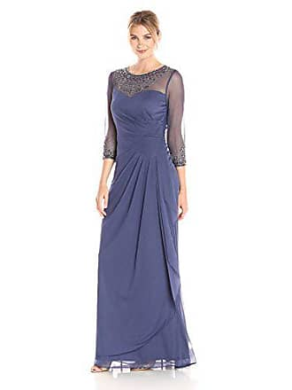 Alex Evenings Womens Long A-Line Sweetheart Neck Dress (Petite and Regular Sizes), Violet, 14