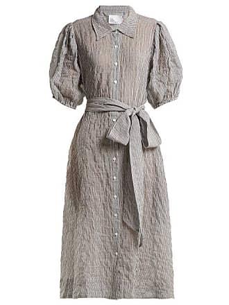 1398790e5e Lisa Marie Fernandez Puff Sleeved Striped Seersucker Shirtdress - Womens -  White Stripe