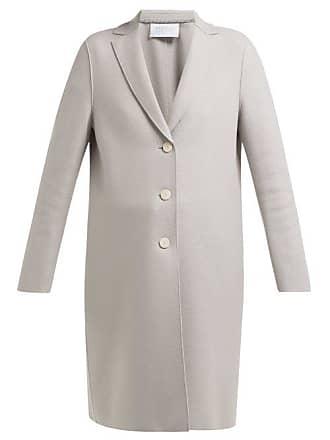 Harris Wharf London Single Breasted Pressed Wool Coat - Womens - Light Grey