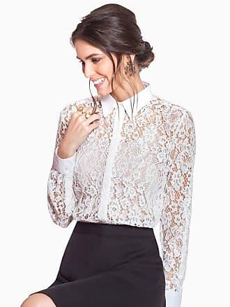 Principessa Camisa de Renda Off White Principessa Ana Rita
