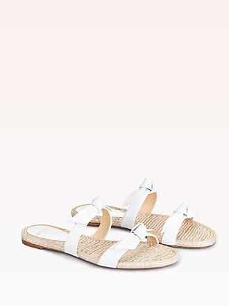 Alexandre Birman Clarita Braided Flat Sandal - 35.5 White Capreto Leather