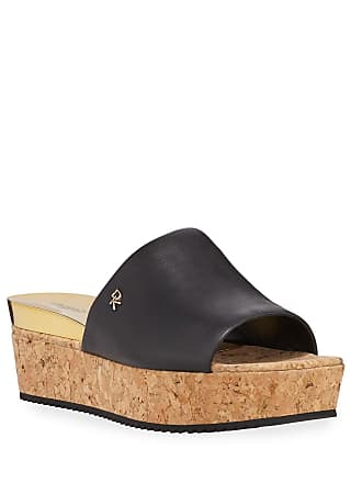 DKNY Deena Cork Platform Slide Sandals