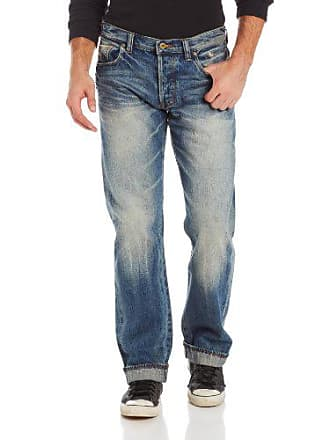 Prps Mens Barracuda Regular Fit Straight Leg Selvedge Jean in Five Year, Five Year, 34