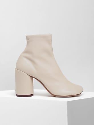 Maison Margiela Mm6 By Maison Margiela Ankle Boots Beige Polyurethane, Polyester