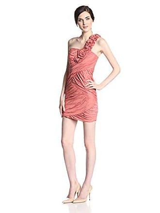 ced630a08d7 Bcbgmaxazria Womens Evangeline One Shoulder Dress, Orange, 0