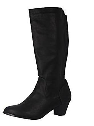 4bea896ddf1db8 Andres Machado Stiefel in Übergrößen Schwarz AM385 Soft Negro große  Damenschuhe