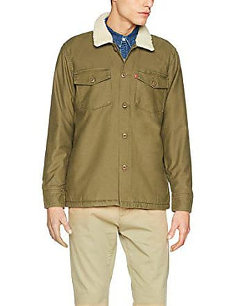 Levi s Military Sherpa Shacket, Blouson Homme, Vert (Olive Night 0000),  Large 7f4defbf5294