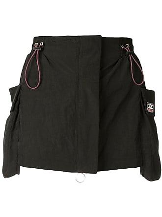 Ground-Zero drawstring mini skirt - Preto