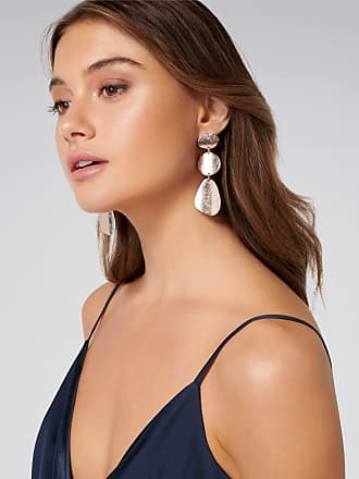 Forever New Bronte Hammered Shape Drop Earrings - Rose Gold - 00