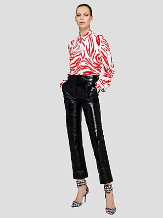 Msgm shiny printed eco-leather pants