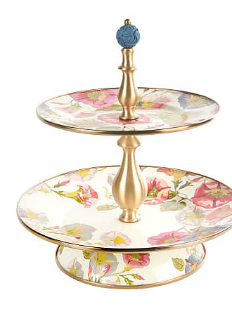 MacKenzie-Childs Morning Glory Cake Stand - Two Tier