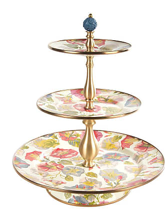 MacKenzie-Childs Morning Glory Cake Stand - Three Tier