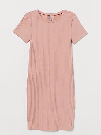 H&M Ribbed Jersey Dress - Orange