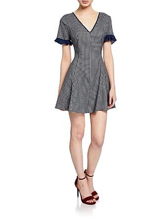 5e5f49d777 BCBGeneration Gingham Fit- -Flare Ruffle Mini Dress