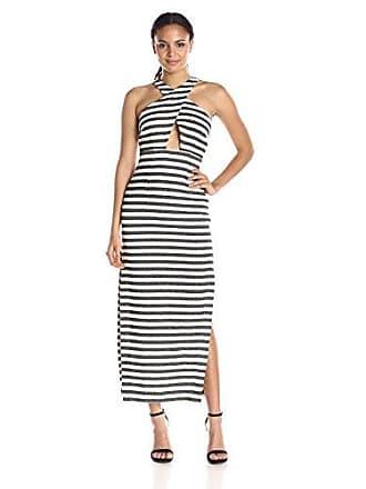 413e5e8d17bd Mara Hoffman Womens Stripe Jacquard Maxi Dress, Black/Cream, 10