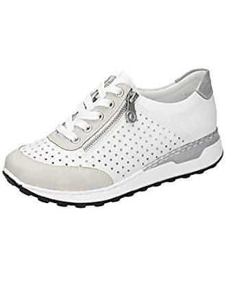 Rieker Damen N0025 Sneaker, Weiß (Ice reinweiss Silber   80), af690c2a6f