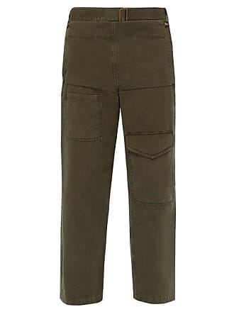 J.W.Anderson Jw Anderson - Fold Front Cotton Twill Cargo Trousers - Mens - Khaki