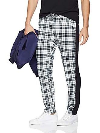 2(x)ist Mens Printed Ankle Pant Pants, Plaid/Black/White, Small