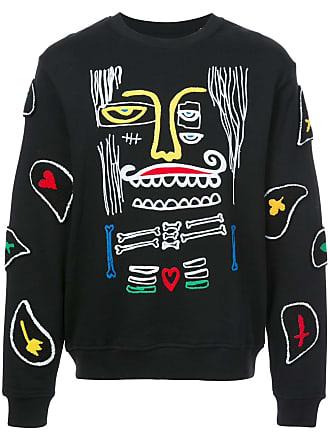 Haculla Monster paisley patch sweatshirt - Preto