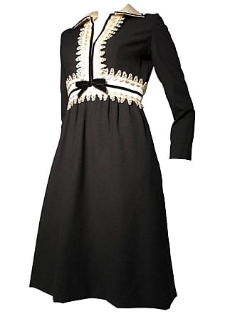 9d854d770b1f Oscar De La Renta 1960s Oscar De La Renta Black Crepe Mini Dress W/ White