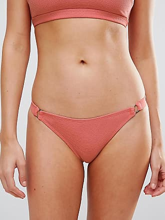 Wolf & Whistle Wolf and Whistle - Bikinihose in Riemchendesign-Rosa