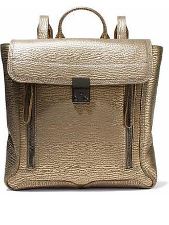 3.1 Phillip Lim 3.1 Phillip Lim Woman Pashli Metallic Textured-leather Backpack Gold Size