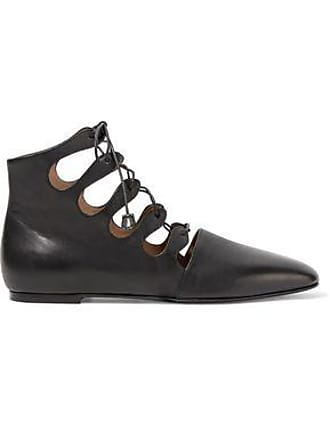 The Row The Row Woman Dimitri Lace-up Leather Ankle Boots Black Size 36.5 fc26201a0e3