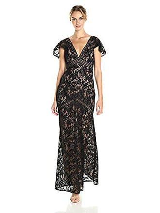 Bcbgmaxazria BCBGMax Azria Womens Katrina Short Cape Sleeved Lace Knit Evening Dress, Black, 6