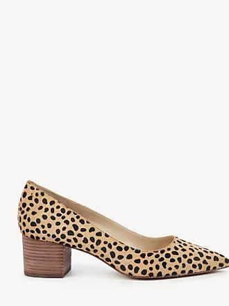 adc7c415775 Sole Society Womens Andorra Block Heels Pumps Cheetah Dot Size 10 Haircalf  From Sole Society