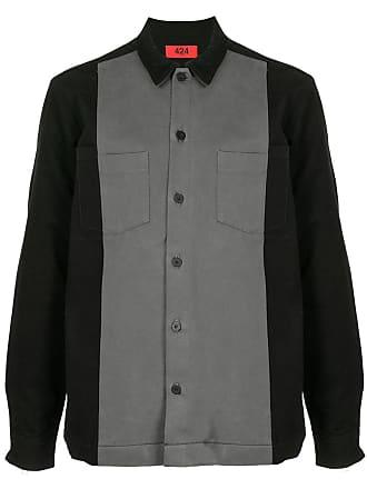 424 Camiseta mangas longas com botões - Preto
