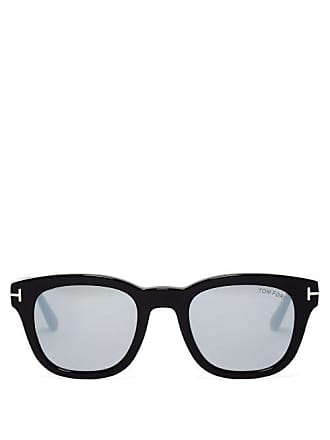 Tom Ford Eyewear Square Frame Acetate Sunglasses - Womens - Black Brown