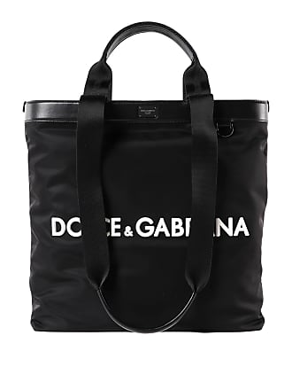 4b689a1e4075 Dolce   Gabbana Nylon tote with front logo lettering
