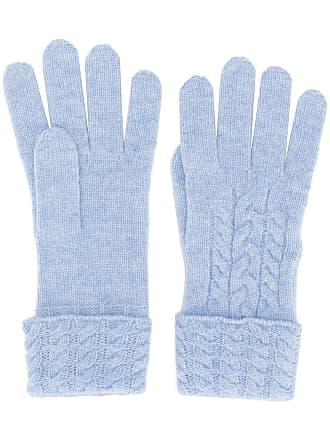 N.Peal Par de luvas de tricô - Azul