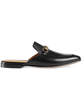 031979f08 Gucci Slipper de couro Horsebit - Preto