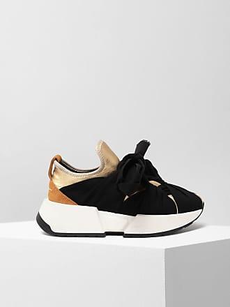 Maison Margiela Mm6 By Maison Margiela Sneakers Black Polyamide, Elastane, Bovine Leather