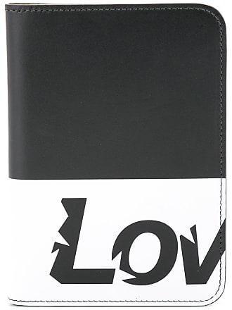Ports V Porta-cartões Love de couro - Preto